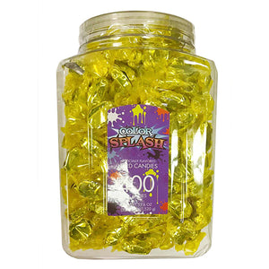 Color Splash Yellow Foiled Lemon Hard Candies - Tub of 400