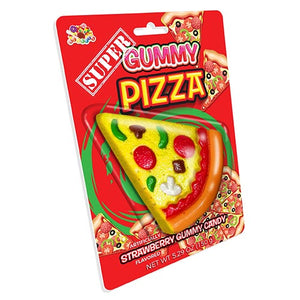 Albert's Super Gummy Pizza Slice Strawberry Gummi Candy 5.29 oz.