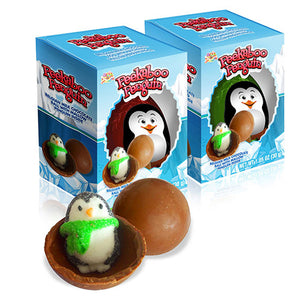 Albert's Peekaboo Penguin Belgian Milk Chocolate Ball with Mallow Penguin 1.05 oz.