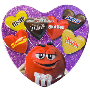 Assorted Mars Candy Heart Gift Tin 3 oz.