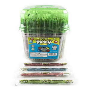 Assorted Sour Punch Twists Candy - Tub of 180