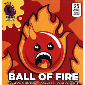 "Bubble King Ball of Fire 1"" Gumballs - Bulk Bags"