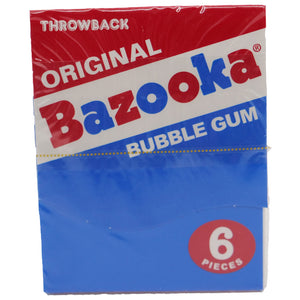 Bazooka Original Throwback Bubble Gum Mini Wallet Pack