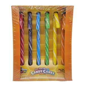 """Color Your Mouth"" Candy Canes - 3 oz."