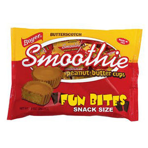 Boyer Butterscotch Smoothie Peanut Butter Cups Fun Bites Snack Size - 10-oz. Bag