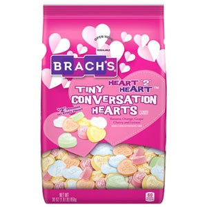 Brach's Heart 2 Heart Tiny Conversation Hearts Candy - 30-oz. Bag