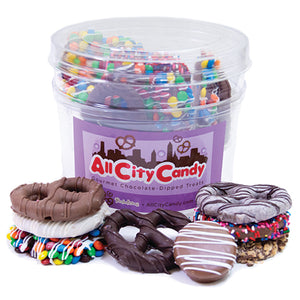 Bucket of Fun Gourmet Chocolate Covered Pretzels & Oreo Cookies Gift Tub