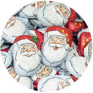 Caramel Filled Milk Chocolate Santas - 3 LB Bulk Bag