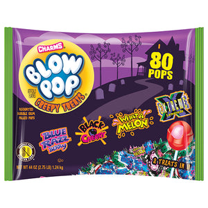Charms Blow Pop Creepy Treats Variety Mix - Bag of 80
