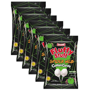 Charms Fluffy Stuff Spider Web Cotton Candy - 2.1-oz. Bag