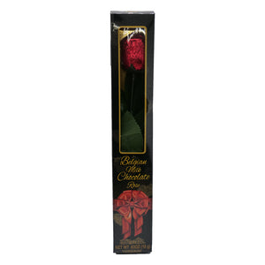 Belgian Milk Chocolate Red Foil Rose - 0.63-oz. Window Gift Box