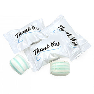Colombina Xtime Soft Mint Puffs Thank You Mints Hard Candy - Bag of 200