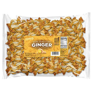 Columbina Ginger Hard Candy - 5 LB Bulk Bag