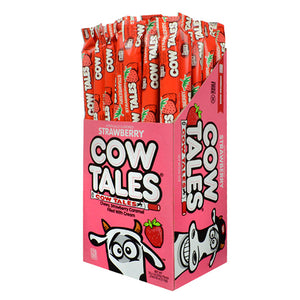 Sour Strawberry Cow Tales Chewy Caramel Stick 1 oz.