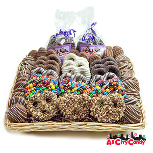 Cravings Plus Collection Gourmet Chocolate Covered Treats Gift Basket