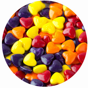 Assorted Colors Crazy Hearts Pressed Candy - Bulk Bags