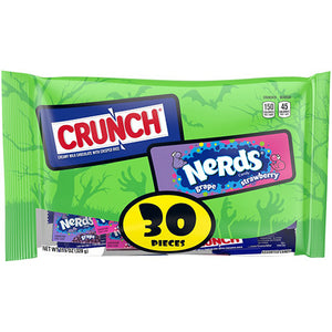 Crunch & Nerds Halloween Candy Variety Pack - Bag of 30