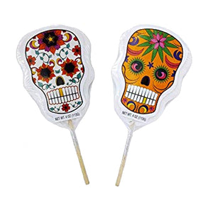 Day of the Dead Sugar Skull Lollipop 4 oz.
