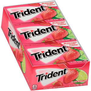 Trident Island Berry Lime Sugar Free Gum - 14 Stick Pack