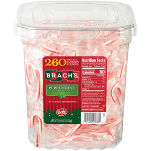 Brach's Bob's Mini Peppermint Candy Canes - Tub of 260
