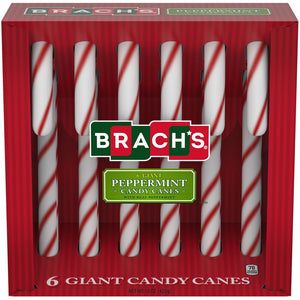 Brach's Giant Peppermint Candy Canes - 6 ct Box