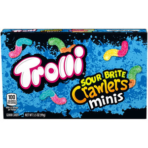 Trolli Sour Brite Crawlers Minis Gummi Worm Candy - 3.5-oz. Theater Box