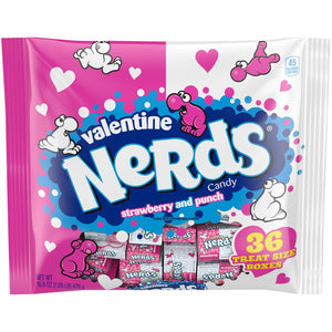 Valentine's Nerds Strawberry & Punch Treat Boxes - 36 Count Bag