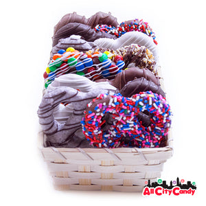Delectable Dozen Gourmet Chocolate Covered Pretzel Twists Gift Box