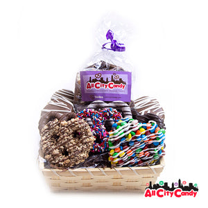 Dreamy Delight Gourmet Chocolate Covered Treats Gift Basket