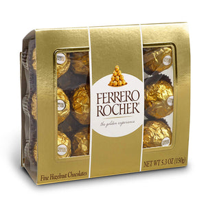 Ferrero Rocher Fine Hazelnut Chocolates - 12-Piece Gift Box