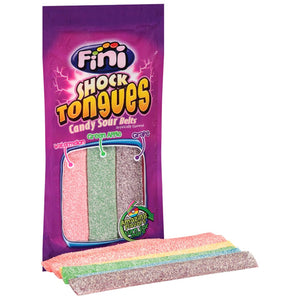 Fini Shock Tongues Candy Sour Belts - 4.5-oz. Bag