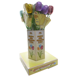 Assorted Spring Colors Foiled Belgian Chocolate Tulips