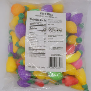Candy Powder Filled Plastic Fruits Medley - 72-Piece Bag