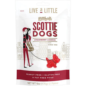 Gimbal's Strawberry Licorice Scottie Dogs - 6-oz. Bag