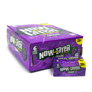 Grape Now and Later Long Lasting Chews 6-Pack - Case of 24