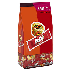 Reese's and Kit Kat Miniatures Assortment Party Pack - 33.36-oz. Bag