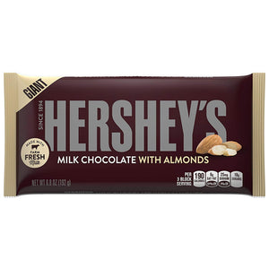 Giant Hershey's Milk Chocolate with Almonds Candy Bar 6.8 oz.