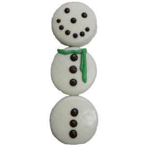 Holiday Snowman Gourmet Milk Chocolate Covered Oreo Cookies 3-Pack