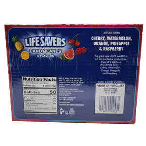 Life Savers Five Flavor Candy Canes - 5.28oz