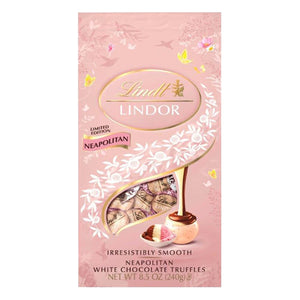 Lindt Lindor Neopolitan White Chocolate Truffles - 8.5-oz. Bag