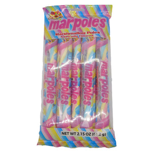 Marpoles Candy Marshmallow Poles - Bag of 8