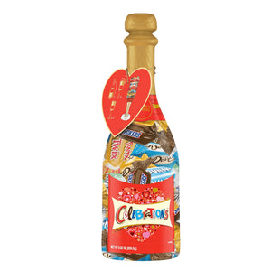 Celebrations Champagne Bottle with Mars Chocolate Favorites  - 9.52-oz.