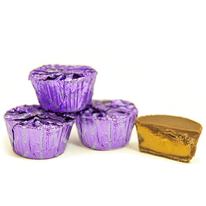 Palmer Purple Foiled Mini Chocolate Peanut Butter Cups - 3 LB Bulk Bag