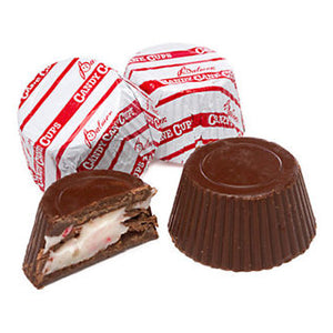 Palmer Dark Chocolate & Peppermint Creme Candy Cane Cups - Bulk Bags