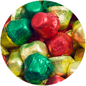 Palmer Dairygood Milk Chocolate Foiled Christmas Bells - 3 LB Bulk Bag