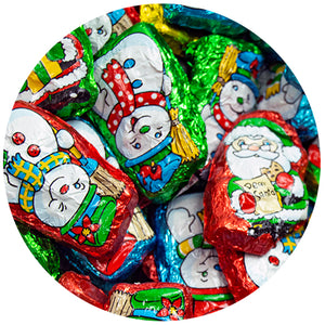 Palmer Foiled Santa's Helper Chocolates - 3 LB Bulk Bag