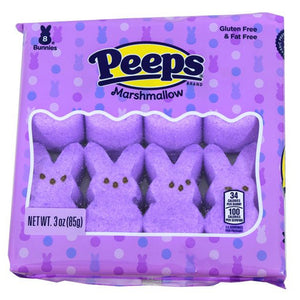 Peeps Lavender Marshmallow Bunnies 8 Pack