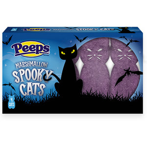 Peeps Marshmallow Spooky Cats 4-Pack