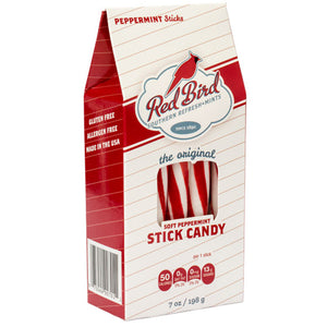 Red Bird Soft Peppermint Stick Candy - 7-oz. Box