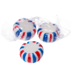 Red White & Blue Peppermint Starlight Mints Hard Candy - 5 LB Bulk Bag